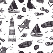 Sea seamless pattern — Vettoriali Stock