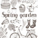 Spring garden card — Stock Vector #10665717
