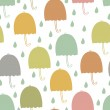 Stock Vector: Umbrellas seamless background