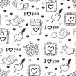 Royalty-Free Stock Vector Image: Valentine&#039;s day pattern
