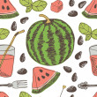 Stock Vector: Watermelon background