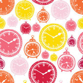 Clock pattern — Vector de stock