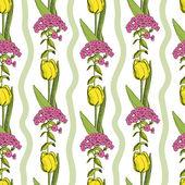 Flower seamless background — Stock Vector