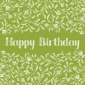 花誕生日カード — ストックベクタ