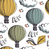 Hot Air Balloons background — ストックベクタ