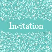 Tarjeta de invitación de diseño — Vector de stock