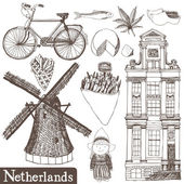 Netherlands set — Stock Vector