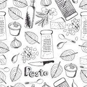 Seamless pattern di pesto — Vettoriale Stock