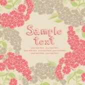 Phlox rosa flor de diseño de la tarjeta — Vector de stock