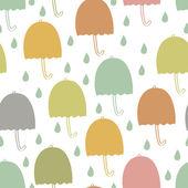 Umbrellas seamless background — Stock Vector