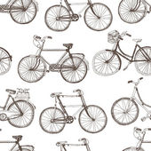 Vintage bicycle background — Stock Vector