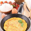 Royalty-Free Stock Photo: Omelette in pan