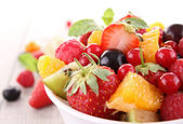 Isolated fruit salad — Stock Photo