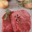 Raw beefsteak — Stock Photo #10234694