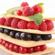 Berry fruit mille feuille — Stock Photo #10235514