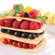 Berry fruit mille feuille — Stock Photo #10235531
