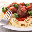 Spaghetti and meatballs — Stock Photo #10251198