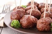 Meatballs appetizer — Stock Photo
