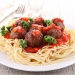 Spaghetti and meatball — Stock Photo #10298341
