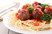 Spaghetti and meatball — Stock Photo