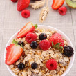 Cereals with berry fruit — Stock Photo #10386600