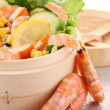 Shrimp salad - Stock Photo