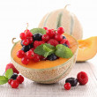Melon and berry fruit — Stock Photo #10486717