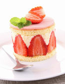 Strawberry shortcake — Stockfoto