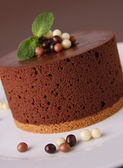 Chocolate mousse cake — Stock Photo