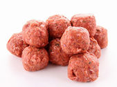 Raw meatballs — Stock Photo