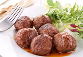 Grilled meatballs — Stock Photo