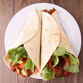 Fajita, burrito — Stock Photo