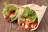 Burrito fajita — Stock Photo