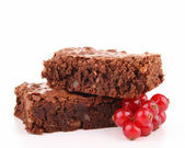 Isolated brownies — Stock Photo