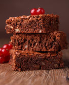 Stack of brownies — Stock Photo