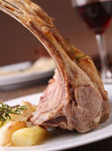 Roast lamb rack — Stock Photo