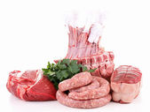 Isolated raw meats — Stock Photo