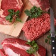 Raw beef — Stock Photo #8370736