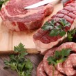 Stock Photo: Raw meats