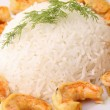Meal,rice and shrimp — Stock Photo