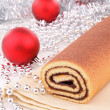 Chocolate swiss roll - Stock Photo