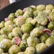 图库照片: Brussels sprouts and cream