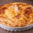 Stock Photo: Gourmet meat pie