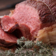 Stock Photo: Roasted beef
