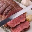 Stock Photo: Slice of roast beef