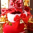 Chrismtas boot and gift — Stock Photo #8624297