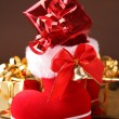 Chrismtas boot and gift — Stock Photo