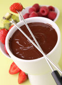 Chocolate fondue — Stock Photo