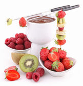 Isolated chocolate fondue — Stock Photo