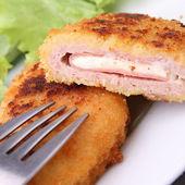 Fried cordon blue — Stock Photo